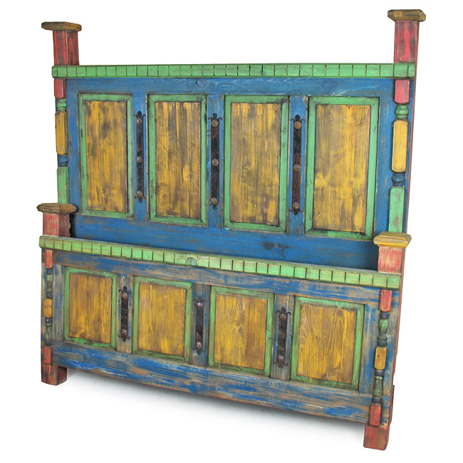 Rustic Mexican Painted Wood B