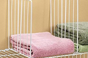 Amazon.com: Miles Kimball Shelf Divider for Wire Shelves Set of 4 .