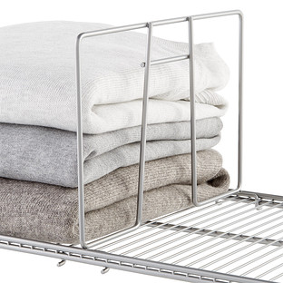 Platinum Elfa Ventilated Wire Shelf Dividers | The Container Sto