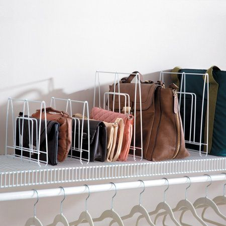 Shelf Dividers for Wire Shelves | Wire shelving, Organizing purses .