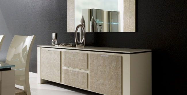 contemporary modern dining room buffet with mirror (con imágenes .