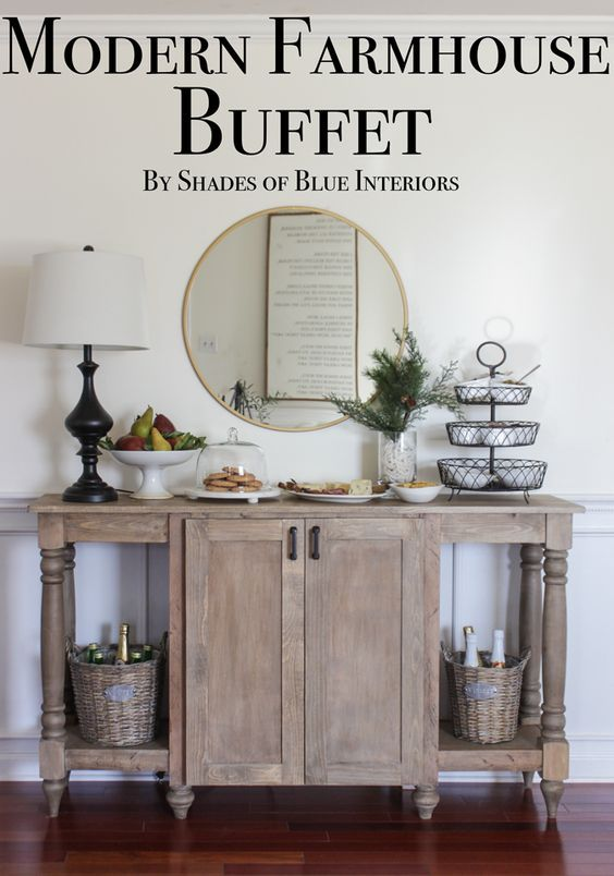 Modern Farmhouse Buffet | Farmhouse buffet, Decor, Dining room buff