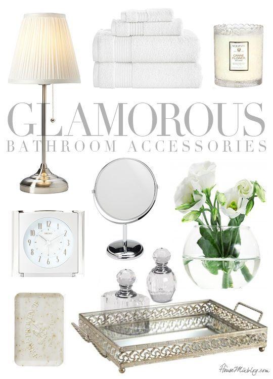 Silver Bathroom Accessories Sets Ideas | Bathroom | Glamorous .