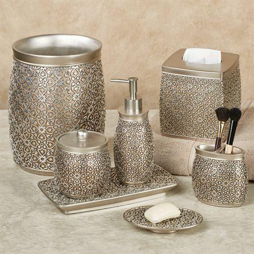 Jag Antique Gold and Silver Bath Accessories in 2020 | Bath .