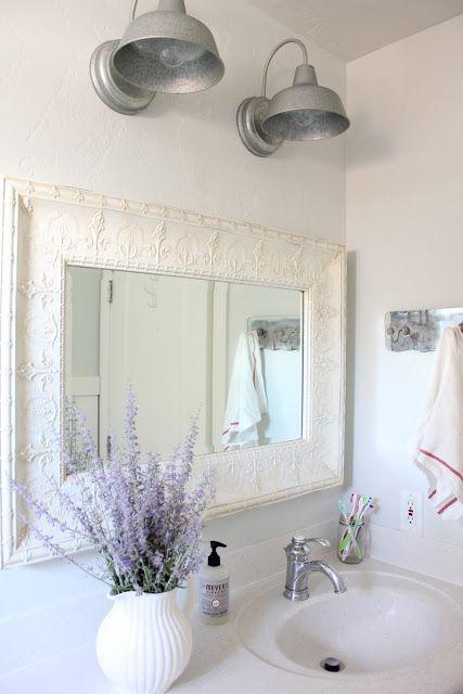 french farmhouse bathroom | Purple bathroom decor, Farmhouse .