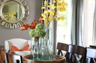 Fall Home Tour | Dining room table centerpieces, Dining room table .