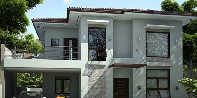 2 Storey Simple Modern House Design | Simple house design, House .