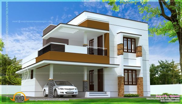 Simple modern house | Kerala house design, Simple house design .