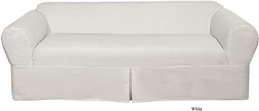 Amazon.com: Classic Slipcovers WDEN2PC20WHT lovseat slipcover, 2 .