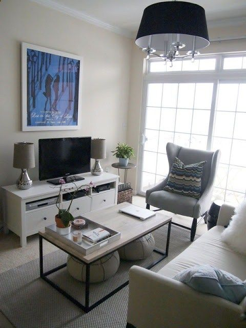 IDEAS for Small Living Spaces | Living room furniture arrangement .