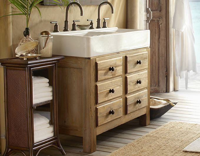 potterybarn-double sink for small bathroom | Small bathroom sinks .