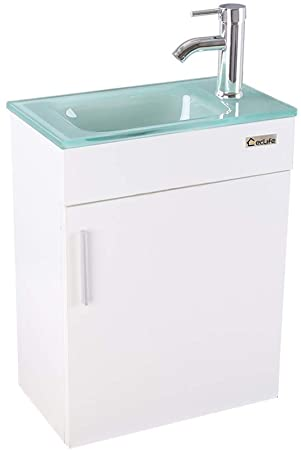 "Amazon.com: eclife Bathroom Vanity W/Sink Combo, 18.4"" for Small ."