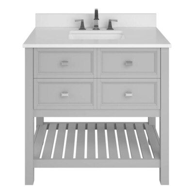 Scott Living Canterbury 36-in Light Gray Single Sink Bathroom .