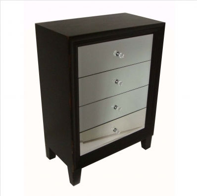 Small Black Chest of Drawers 4 drawers on smooth,this black chest .