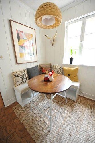 Kitchen corner sofa storage ideas | Dining room small, Breakfast .