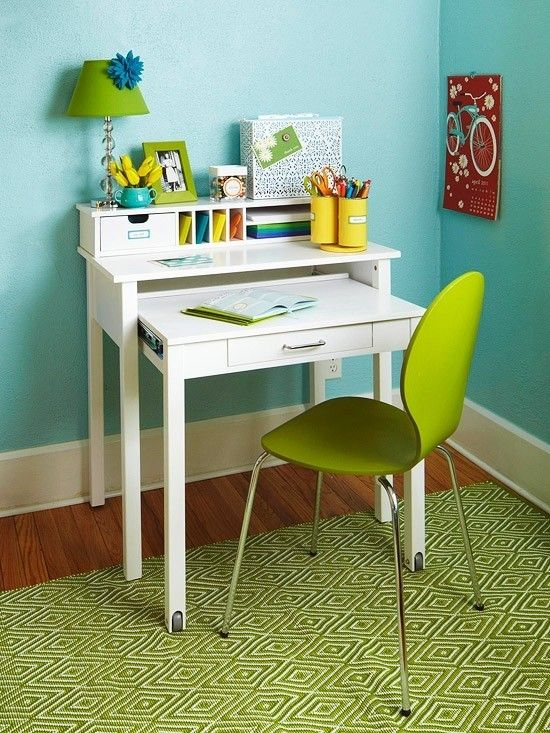 Small Desk With Drawer - Foter | Desks for small spaces, Space .