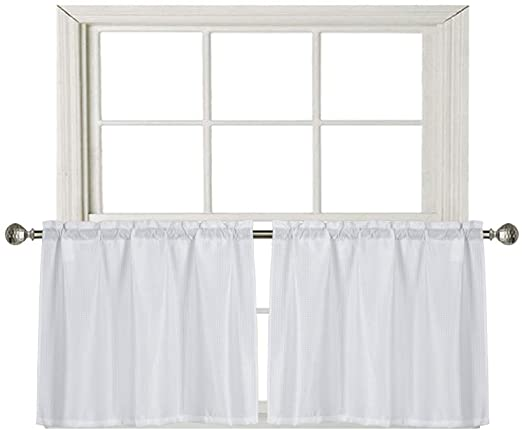 Amazon.com: Home Queen Waffle Tier Curtains for Kitchen Window .