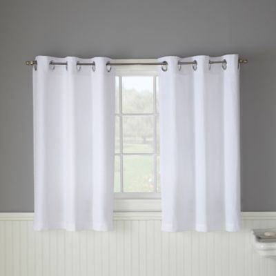 Hookless Waffle 45-Inch Bath Window Curtain In White in 2020 .