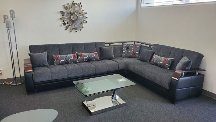 Sectional Sofa with Storage and b