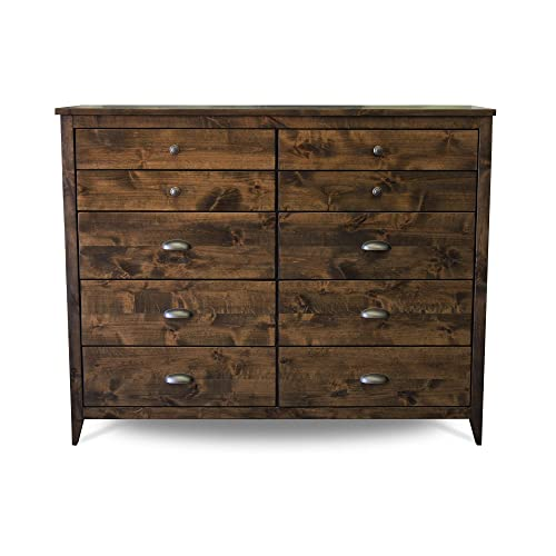 Amazon.com: Solid Wood Rustic Dresser | Home & Living | Bedroom .
