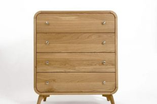 Tall Bedroom Chest of Drawers Solid Oak Bedroom Storage with | Et