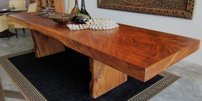 Wood Slab Furniture | Mobilier de salon, Design, Art desi