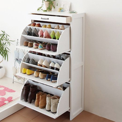 This. It is one of the most space-efficient shoe storage solutions .