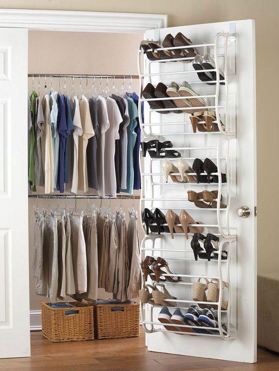 25 Space Saving Shoe Rack Ideas   Closet shoe storage, Space .