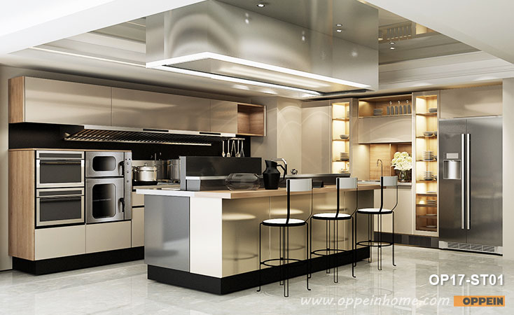 Colored Stainless Steel Kitchen Cabinet OP17-ST01- OPPEIN | The .