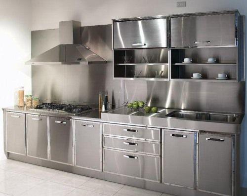 Metal Ikea Kitchen Cabinets … | Aluminum kitchen cabinets, Steel .