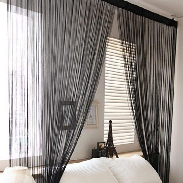High Quality New Solid Line String Window Curtain Tassel Door Room .