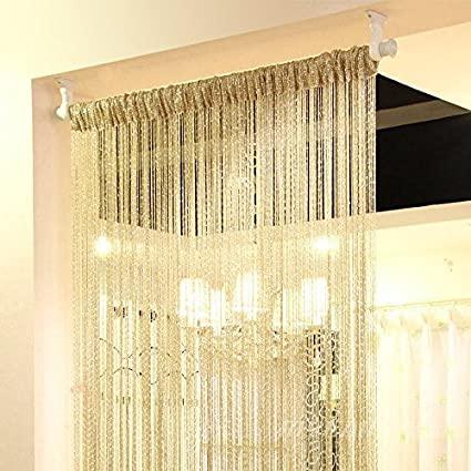 Amazon.com: Eyotool 1x2 M Door String Curtain Rare Flat Silver .