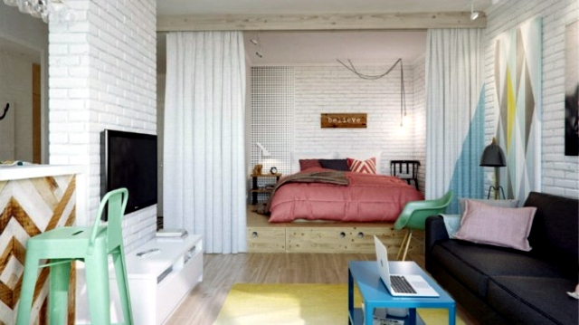 Contemporary How To Decorate Studio Apartment Decorating Idea For .
