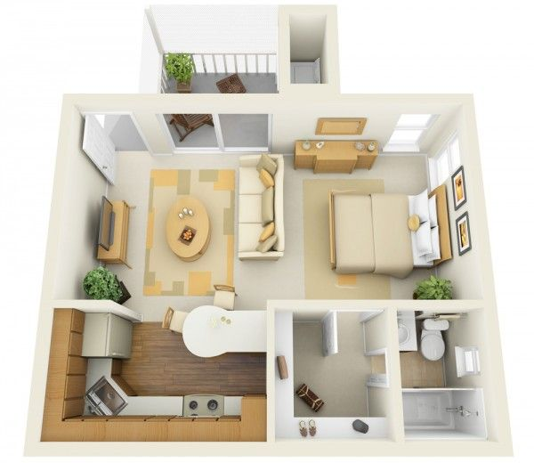11 Ways To Divide A Studio Apartment Into Multiple Rooms | Studio .
