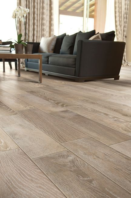 Porcelain tile that looks like wood | Gray wood tile flooring .