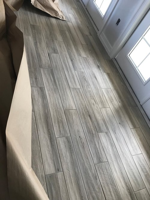 Wood look tile looks wrong