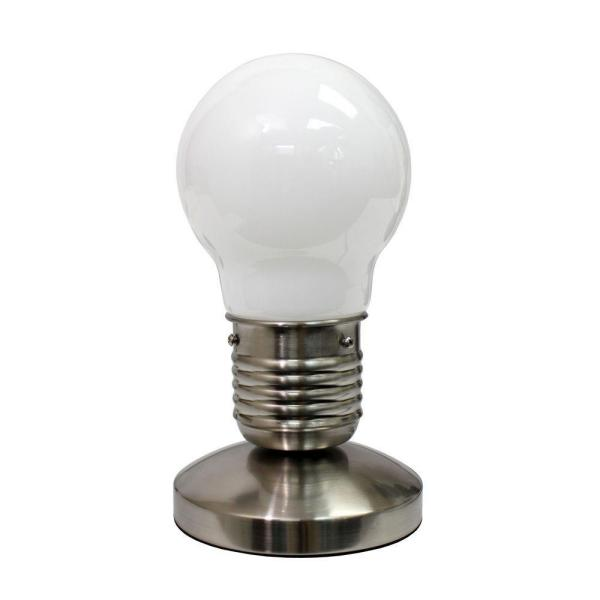 All The Rages 9.45 in. White Edison Style Minimalist Idea Bulb .