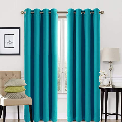 Dark Turquoise Curtains: Amazon.c