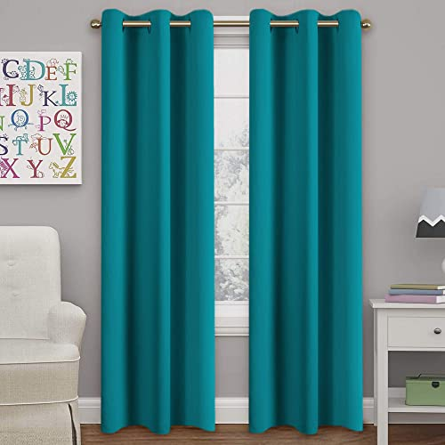 Teal Curtains for Living Room: Amazon.c