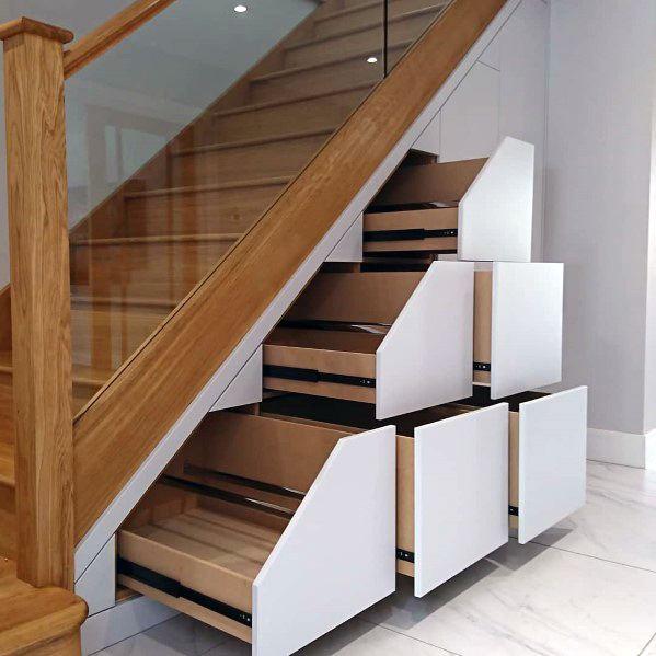 Top 70 Best Under Stairs Ideas - Storage Desig