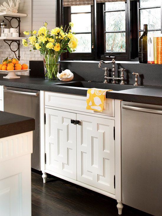 talk about a cabinet face lift.. love! | Kitchen cabinet styles .