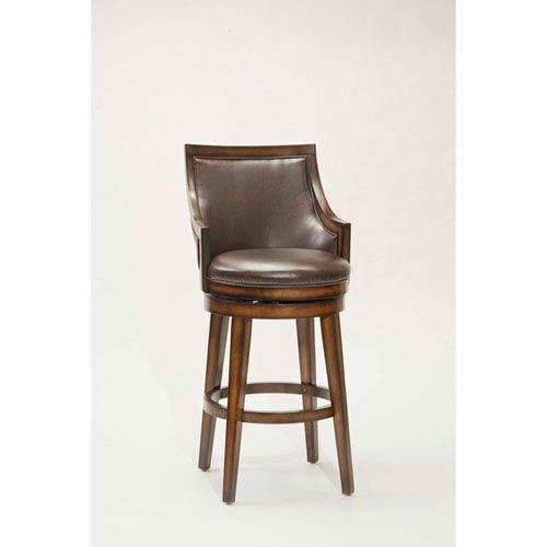 Hillsdale Furniture Lyman Rustic Oak Upholstered 30.5INCH Back .