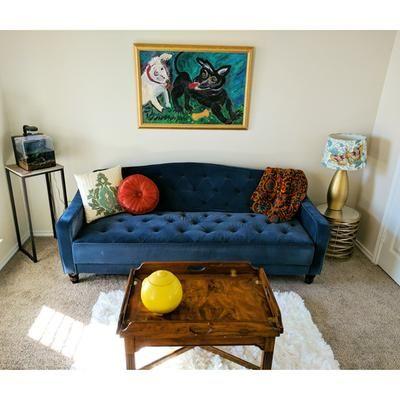 Customer Reviews: Novogratz Vintage Tufted Sofa Sleeper II .