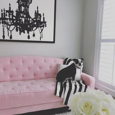 Home | Shabby chic furniture, Pink sofa bed, Tufted so
