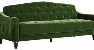 Amazon.com: Novogratz Vintage Tufted Sofa Sleeper II (Green Velour .