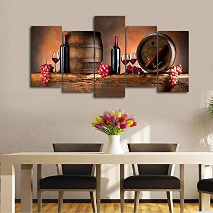 Amazon.com: Cao Gen Decor Art-K60527 5 Panels Wall Art Fruit Grape .