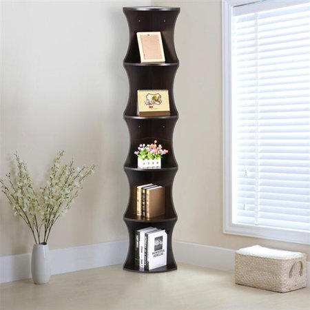 Topeakmart 5 Tier Wall Mount Corner Shelf W/Storage Stand .
