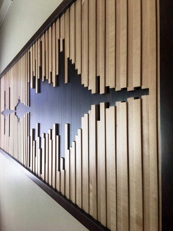 This amazing sound wave art creates a beautiful abstract design .