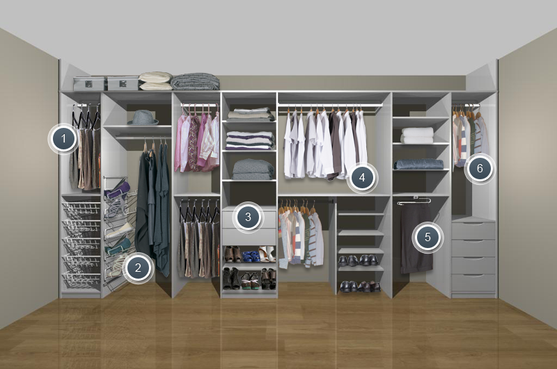 Wardrobe Storage Solutions For Small   Bedrooms