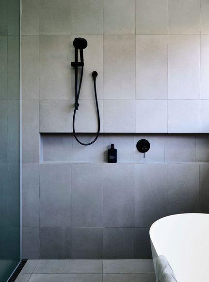 White Bathrooms With Black Taps | Bathroom | Grey bathrooms .
